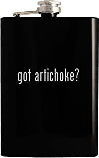 got artichoke? - Black 8oz Hip Drinking Alcohol Flask