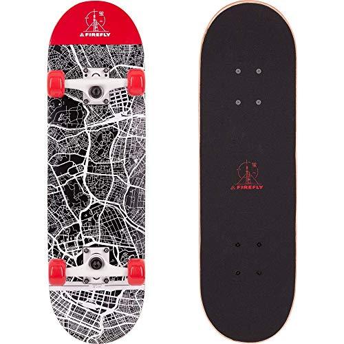 FIREFLY Unisex– Erwachsene SKB 310 Skateboard, RED/White/RED, One Size