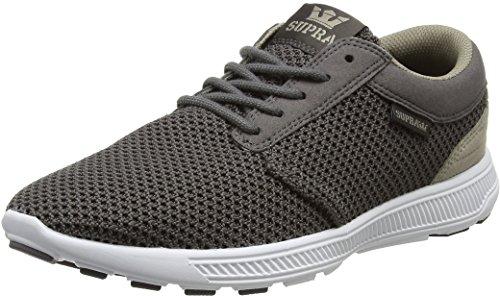 Supra Herren Hammer Run Sneaker, Grau (Charcoal-White), 43 EU