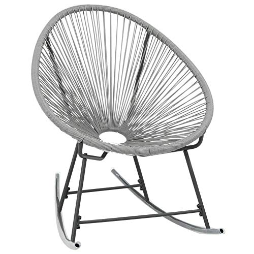 SOULONG Rocking Garden Moon Chair, Lounge Patio Chair, Relaxing Seat Indoor Outdoor