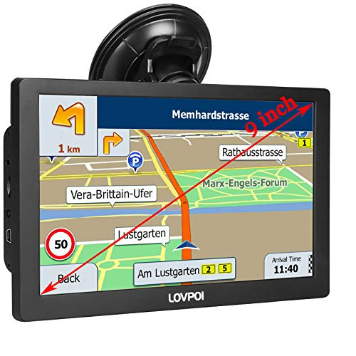 GPS Navigation for Truck Drivers and Car (9 inch), GPS for Truck Drivers Commercial, RV Trucker GPS Navigation System for Trucks, Free Lifetime Map Updates, Spoken Driver Alerts