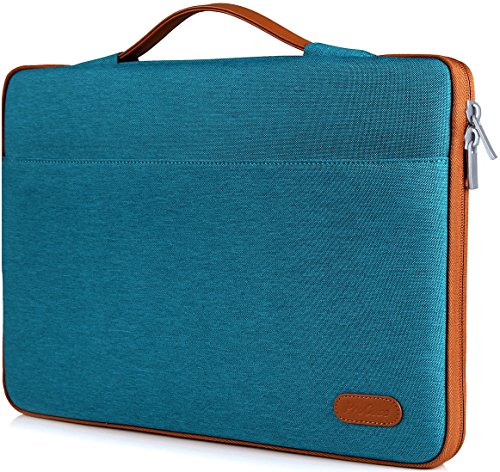 ProCase 14-15.6 Inch Laptop Sleeve Case Bag for 2019 MacBook Pro 16, Carrying BriefCase Handbag for 14' 15' 15.6' Samsung Sony ASUS Acer Lenovo Dell XPS HP Toshiba Chromebook -Teal