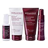 Keranique Hair Regrowth System 30 Days - Keratin Amino Complex - Free of Sulfates Dyes Parabens, Includes Shampoo and Conditioner, Regrowth Treatment and Lift and Repair Spray for Fine Thinning Hair