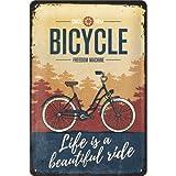 Nostalgic-Art Targa Vintage Achtung – Bicycle – Beautiful Ride – Idea regalo per ciclisti, in metallo, Design retro per decorazione, 20 x 30 cm