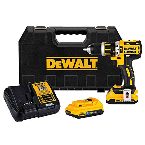 Dewalt DCD795D2BTR 20V MAX XR Lithium-Ion Brushless Compact 2-Speed 1/2 in. Corded Hammer Drill Kit with Tool Connect (2 Ah) (Renewed)