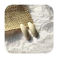 pump-kawayi 5mmの29mmの水滴の樹脂のブローチリングDIYのイヤリングの技術の凸の円形のビーズの宝石類の付属品-white baise -01-