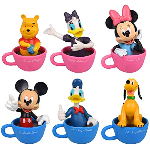 Mini Figures Set, NALCY Cupcake Figures Decoration, 6pcs Mickey Mini Figures Set Mickey Action Figures for Kid Cupcake Figurines Party Cake Decoration Supplies Cake Topper