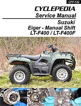 wiring diagram suzuki eiger 400 2007 2002 2007 suzuki lt f400 2x4 4x4 eiger service manual  cyclepedia  2002 2007 suzuki lt f400 2x4 4x4 eiger