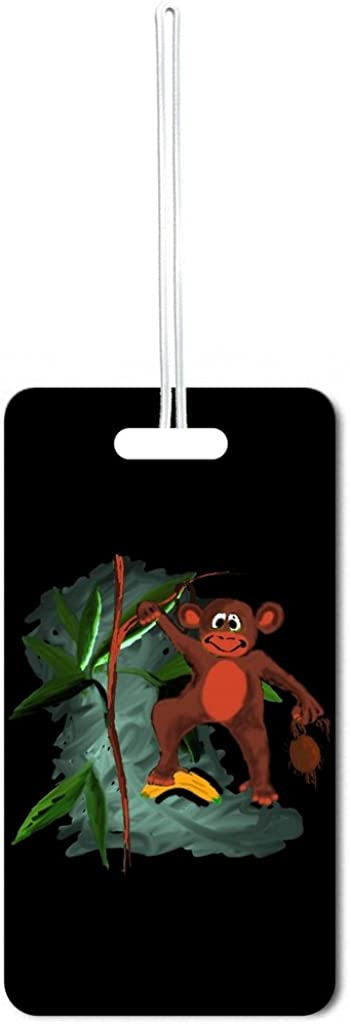Jungle Monkey Lea Finally resale start Elliot Set of Customizable 6 Tags Luggage Max 49% OFF with