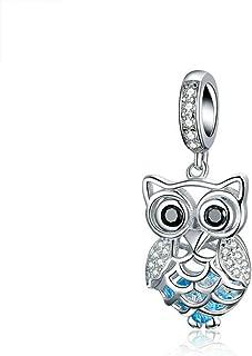 SUG Jasmin Cute Owl Charm Perles pour bracelet /à breloques
