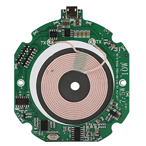 Lazmin Module De Chargeur sans Fil, 75% 5W/7.5W/10W Reconnaissance Automatique Module Emetteur Chargeur sans Fil DIY