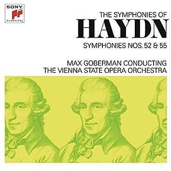 Haydn: Symphonies Nos. 52 & 55