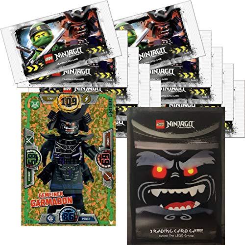 LEGO Ninjago Trading Card Game Serie 3: 50 tarjetas + 5 pegatinas + tarjeta extra limitada (LE16 Gemeiner Garmadon)