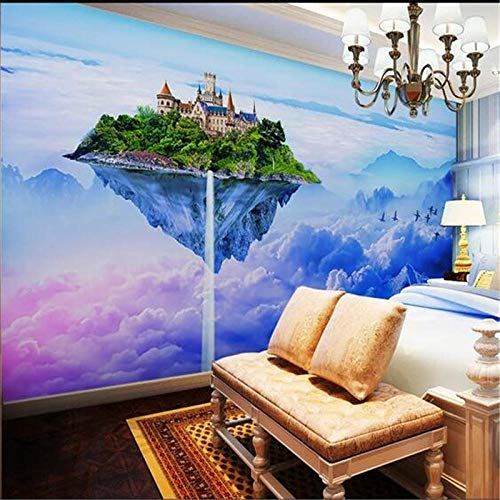 Custom Wallpaper Fantasy Sky Castle Background Beautiful Fairy Tale Childish Background Wall
