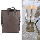 Organizador de Botas de Lluvia, Organizador de Viaje liviano y portátil Almacenamiento 600D Tela Oxford 9X12X16In Botas Bolsa de Zapatos para Pescar