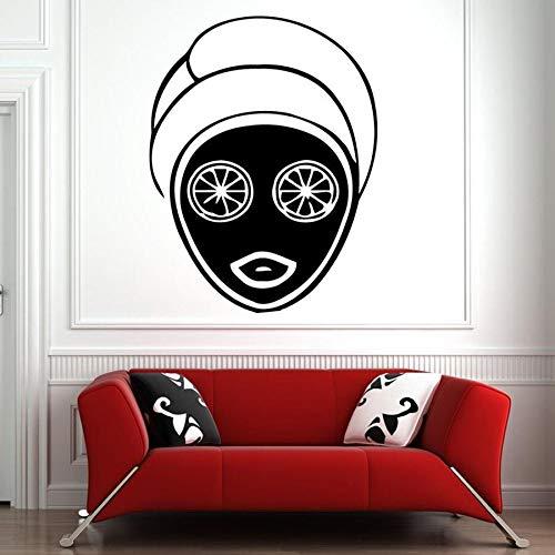 wopiaol Spa Salon Wandtattoos Gesichtsbehandlungen Hautpflege Massage Vinyl Wandaufkleber Beauty Salon Mädchen Zimmer Home Decor Frau Gesicht Wandkunst