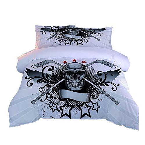 PPKMBGRS Mattress Protector Duvet Cover,Soft Breathable Sleep Comfort Sweat,Liquid,Moisture,Mite Protection,Skull Star Room Bedroom Bed Decoration Set-220x220Cm