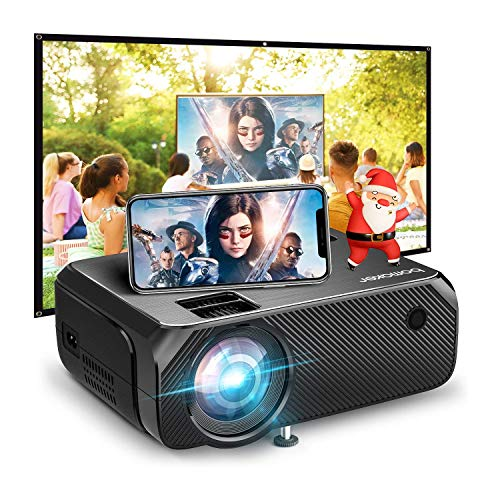 Bomaker Wi-Fi Mini Projector, Portable Projector for Outdoor Movies, Full HD Outdoor Movie Projector, Wireless Mirroring, for Smartphone/Laptops/PCs/Windows/DVD Player /TV Stick