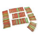 80pcs 8 Tamaños Plástico Apretón Bigudíes de Rodillos de Pelo Barras de Ondulación Permanente de Peluquero Salón