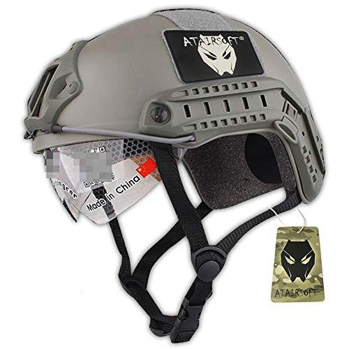 ATAIRSOFT MH Typ Schützend Paintball Kriegsspiel Armee Airsoft Taktische Schneller Helm mit Schutzbrille FG