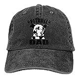 Dyfcnaiehrgrf Pitbull Dad - Gorra de béisbol unisex reutilizable para sombrero de sol para mujer, color negro