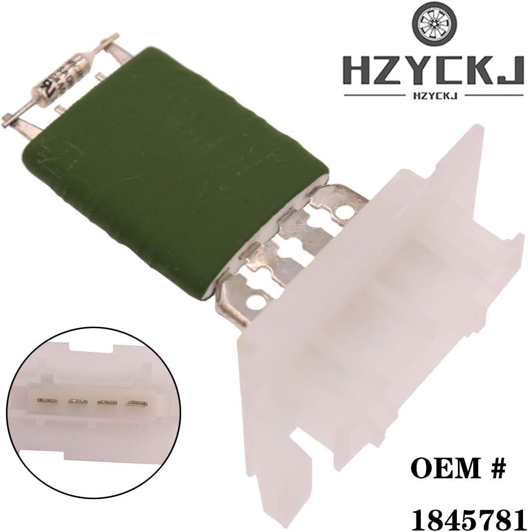 HZYCKJ Controlador de velocidad del resistor del calentador del motor del ventilador OEM # 6450NV 1845781 Para Citroen/Berlingo/Peugeot/Partner/Partnerspace 6450NV,1845781