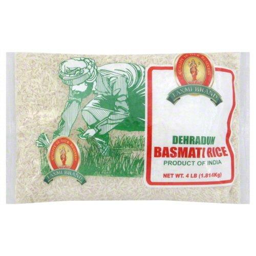 Laxmi All-Natural Gourmet Dehraduni White Basmati Rice - 4 Pounds