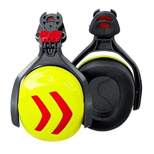 Protos inclipbare gehoorbescherming met beugel, kleur: rood/geel