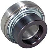 "Peer Bearing FH206-30MM Insert Bearing, FH200-G Series, Narrow inner Ring, Spherical Outer Ring, Non-Relubricable, Eccentric Locking Collar, Metric, Single Lip Seal, 30 mm Bore, 18 mm Inner Ring, 23.82 mm Outer Ring, 30 mm (1.181"") ID, 62 mm (2.441"") OD, 62 mm (2.441"") Width"