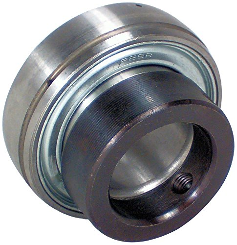 """Peer Bearing FH208-40MM Insert Bearing, FH200-G Series, Narrow inner Ring, Spherical Outer Ring, Non-Relubricable, Eccentric Locking Collar, Metric, Single Lip Seal, 40 mm Bore, 22 mm Inner Ring, 30.18 mm Outer Ring, 40 mm (1.575"""") ID, 80 mm (3.15"""") OD, 80 mm (3.15"""") Width"""