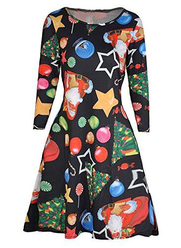Avacoo Damen Kleider Etuikleid Langarm Elegant Kleid Baumwolle Kleider, Weihnachtsgeschenke, 38 / M