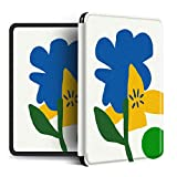 YOPM Funda para Kindle E-Reader,Compatible con 2018 Kindle Paperwhite 4 Kindle Oasis 2/3 Kindle 2019 Auto Sleep/Wake Funda Inteligente Blanca De Silicona Flor Abstracta, para J9G29R