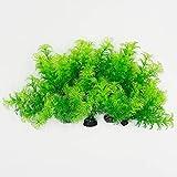 10 unidades / 4 pulgadas/plantas de acuario, decoraciones de pecera, plantas artificiales de plástico, peces de agua, escondite de peces de tamaño pequeño (plantas acuáticas verdes)