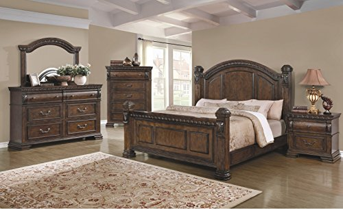 Why Choose Coaster Home Furnishings Satterfield Bedroom New Traditional Look Antique Bourbon Finish ...