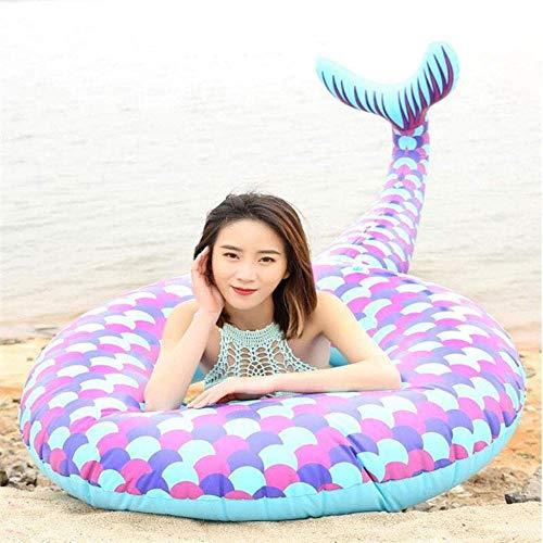 CDFC Anillo inflable gigante de la natación de la sirena flotador de la piscina de la piscina flotante de la fila de la natación flotante del verano de la fiesta de la playa para niños