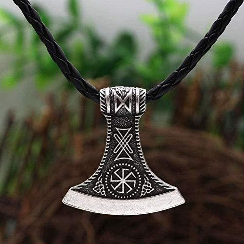 BACKZY MXJP Halskette Herren Halskette Heidnische Perun Axt Rune Slawischen Stern Rus Amulett Alten Talisman Anhänger Halskette Schmuck