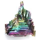 MCWJ Venta al por Mayor Aura Natural Arco Iris bismuto Mineral Forma de Torre Piedra Cuarzo Color Punto Piedra pirámide Reiki curación decoración para el hogar-10-20g