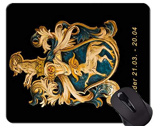 Rutschfeste Gummi-Gaming-Mausunterlage, Sternzeichen Widder Sternbild-Symbol-Themen der rutschfesten Gummi-Basis Mousepad