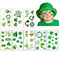 St Patrick's Day Stickers Shamrock Clover Tattoo Irish Temporary Tattoos St Patricks Day Supplies Decorations Shamrock Patterned Tattoos Party Favors Gifts for Kids