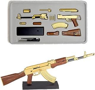 GoatGuns Miniature Gold AK47 Toy Replica | 1/3 Scale | Self Build Kit