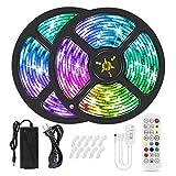 Luz de Tira de luz Bombillas YWXLIGHT RGB Strip de Luces Bluetooth Música 10M Aplicación de Control Remoto IP65