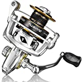 PLUSINNO Fishing Reel, 5.7:1 High Speed Spinning Reel,9 +1BB, Premium Drag System with 22 LB Max Drag, Ultra Smooth Powerful, Lightweight Graphite Frame, CNC Aluminum Spool for Saltwater Freshwater