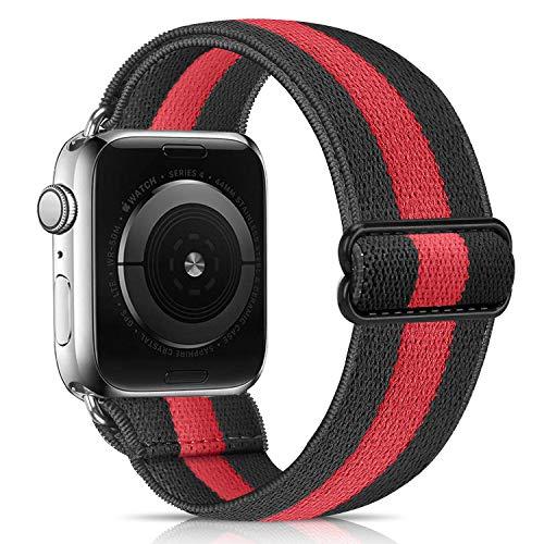 Lourhome - Cinturino di ricambio elastico compatibile per Apple Watch, 38 mm, 40 mm, 42 mm, 44 mm, morbido elastico per sport da donna e uomo, per iwatch serie 6, 5, 4, 3, 2 1, SE Sport Edition