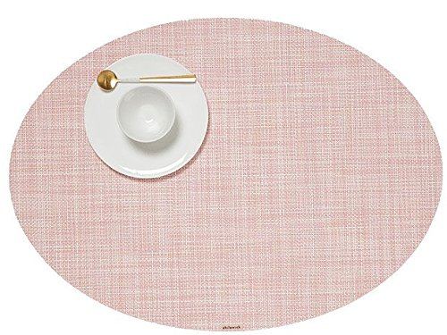 Chilewich Mini Basketweave Tischset, Blush, 36 x 49,5 cm, oval