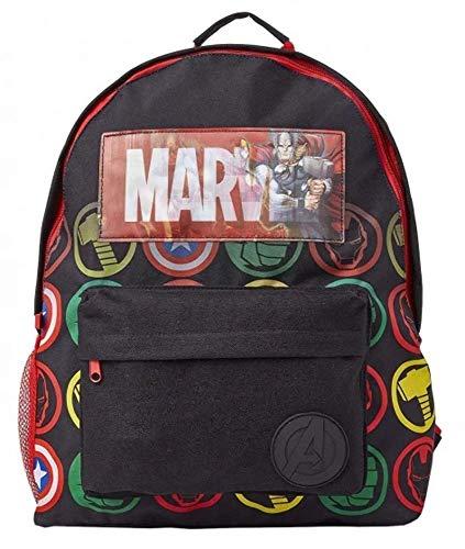 Marvel Avengers Mochila Infantil Marvel, Mochila Escolar Holográfica Capitán América...