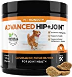 PetHonesty Advanced Hip & Joint - Dog Joint Supplement Support for Dogs with Glucosamine Chondroitin, MSM, Turmeric - Glucosamine for Dogs Soft Chews - Pet Joint Support and Mobility - 90 ct