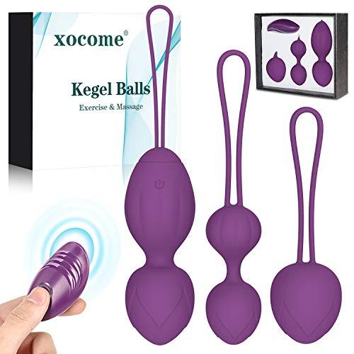 WORSY Bolas Chinas Suelo Pelvico de Silicona Medica Bolas Chinas Terapeuticas - Masajeador de la Salud Kegel Ejercitador Vibrador Kegel Balls para Mujer Control a Distancia (Púrpura)