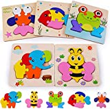 Rolimate Wooden Jigsaw Puzzles for 2 3 4+ Years Old Boys Girls Toddlers, Early Educational Preschool...