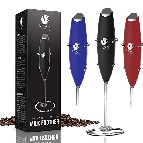 Bean Envy Milk Frother Handheld - Perfect For The Best Latte...