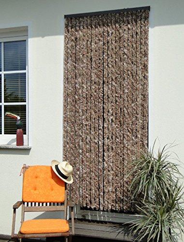 Leguana Handels GmbH Türvorhang Flauschvorhang Flauschi Chenille 100x200 beigebraun